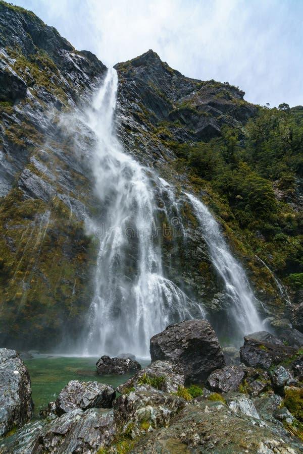Cachoeiras poderosas, quedas do earland, southland, Nova Zelândia 10 fotos de stock royalty free