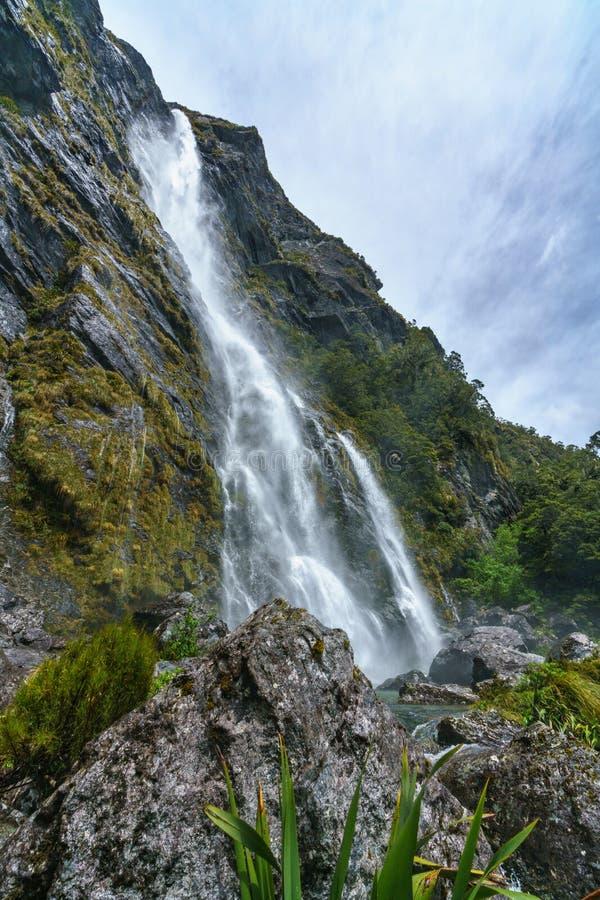 Cachoeiras poderosas, quedas do earland, southland, Nova Zelândia 14 imagem de stock