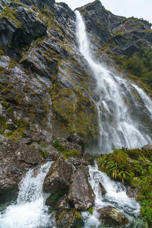 Cachoeiras poderosas, quedas do earland, southland, Nova Zelândia 13 fotos de stock royalty free