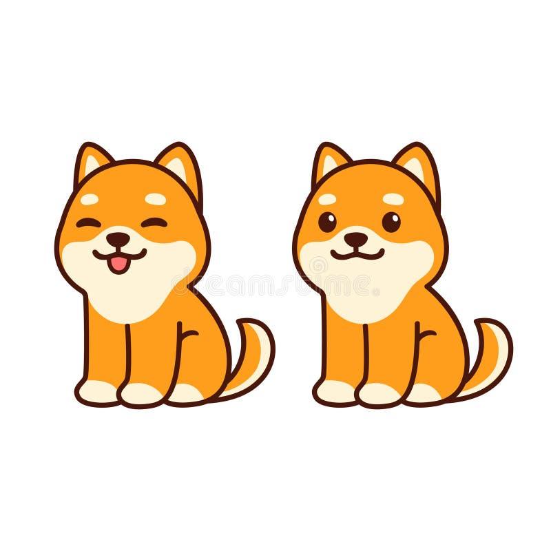 Cachorrinho bonito de chiba Inu ilustração royalty free