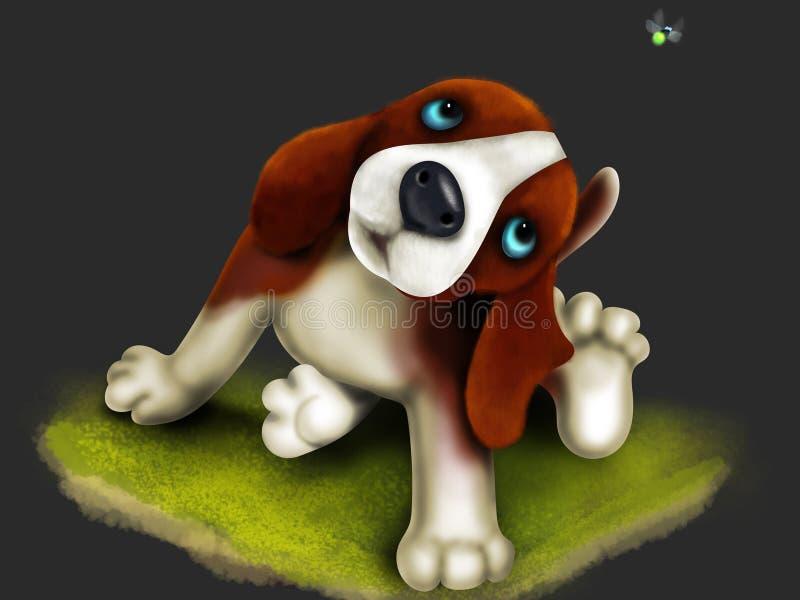Cachorrinho bonito do bigle ilustração do vetor
