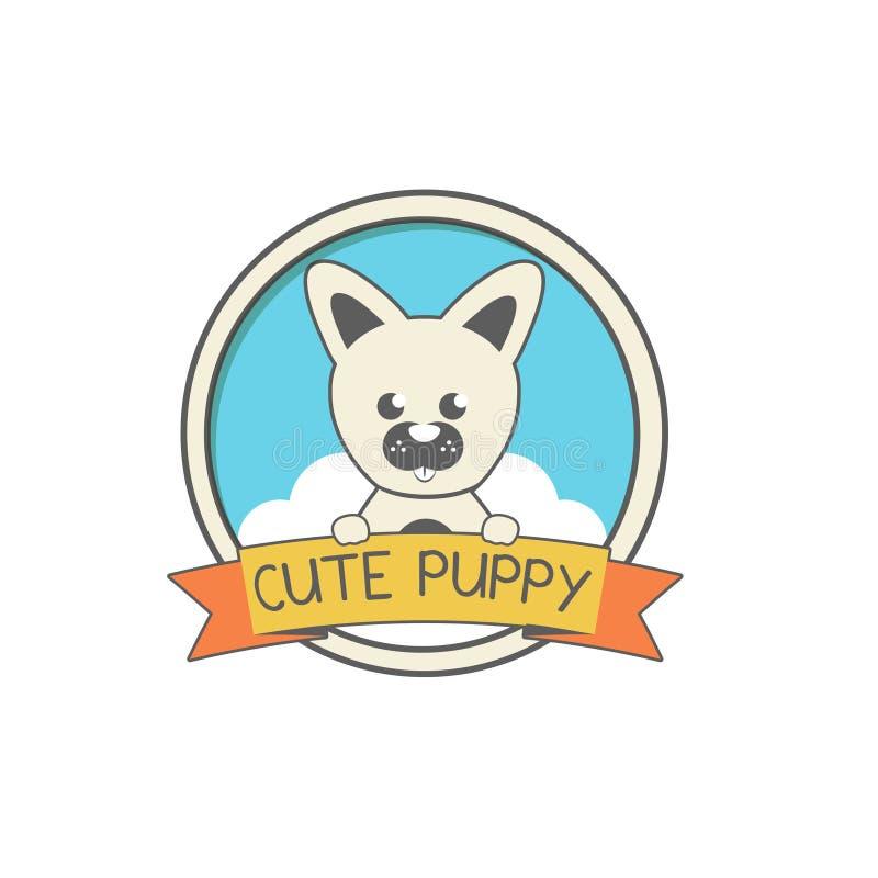Cachorrinho criativo Logo Design Vetora Art Logo ilustração royalty free