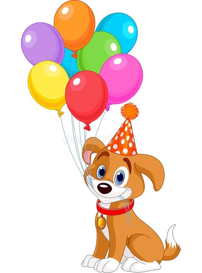 Cachorrinho do aniversário ilustração royalty free