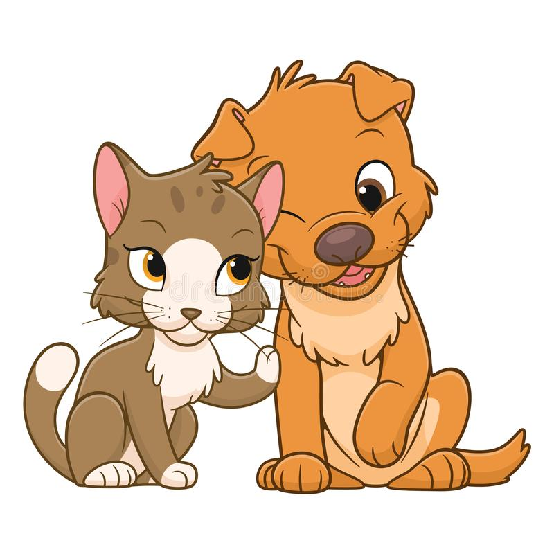 Gato Bonito Dos Desenhos Animados Ilustracao Do Vetor Ilustracao