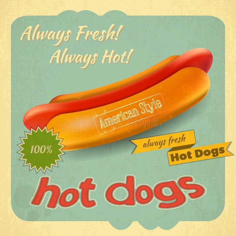 Cachorros quentes ilustração stock