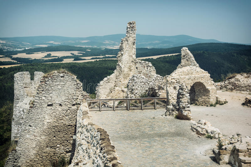 Cachtice castle, Slovak republic, central Europe. Ruins of the Cachtice castle, Slovak republic, central Europe. Seat of bloody countess stock photos