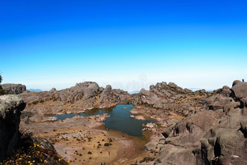 Cachu Cachu Lake in Marcahuasi, Peru stock photography