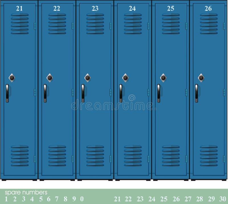 Cacifos vazios da escola ilustração royalty free