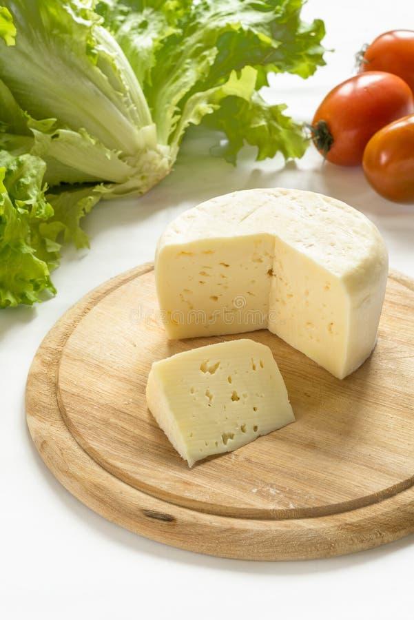 Caciotta, queijo italiano imagem de stock