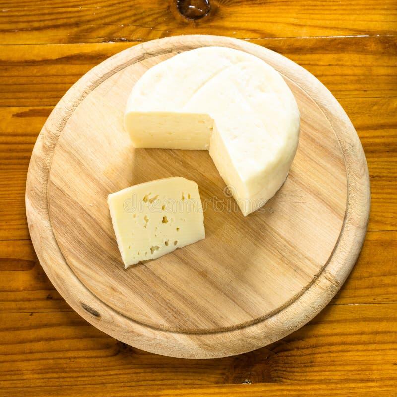 Caciotta, queijo italiano imagem de stock royalty free