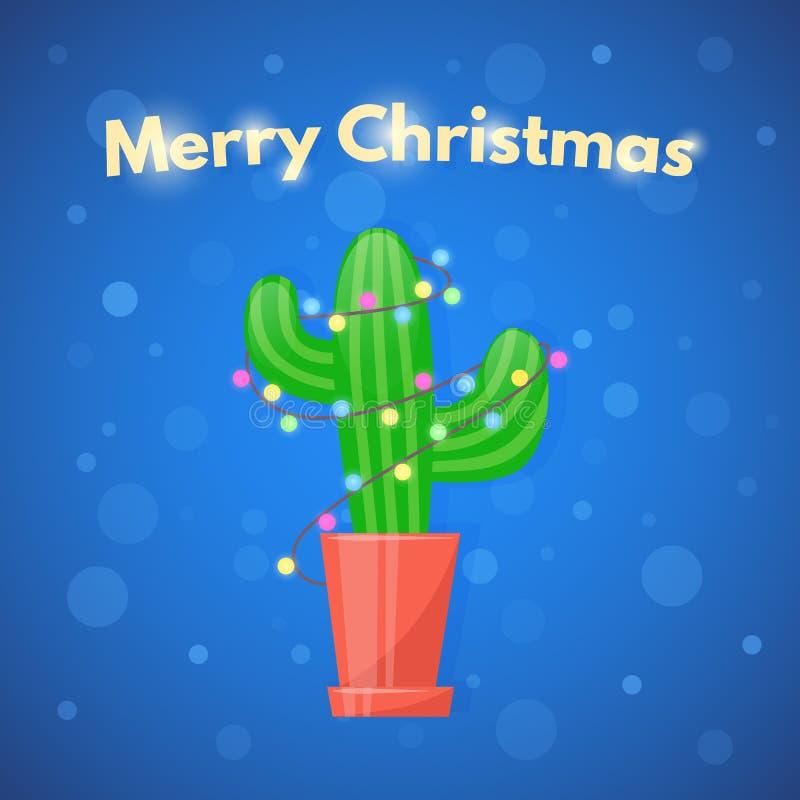 Cacto de Natal ilustração do vetor