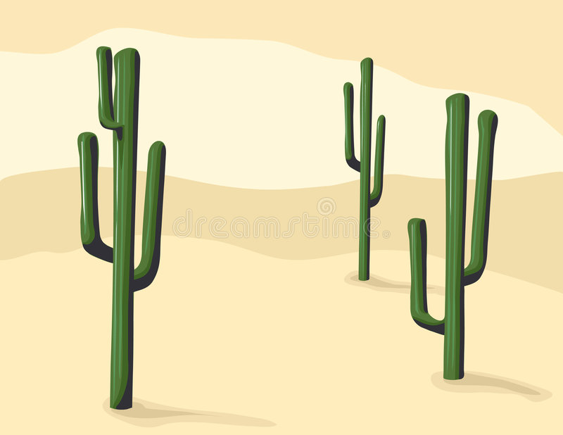 Cacto del Saguaro stock de ilustración