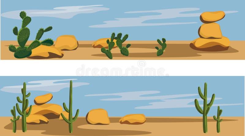 Cacto y desierto libre illustration