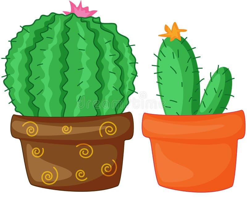 Cactos ilustração royalty free
