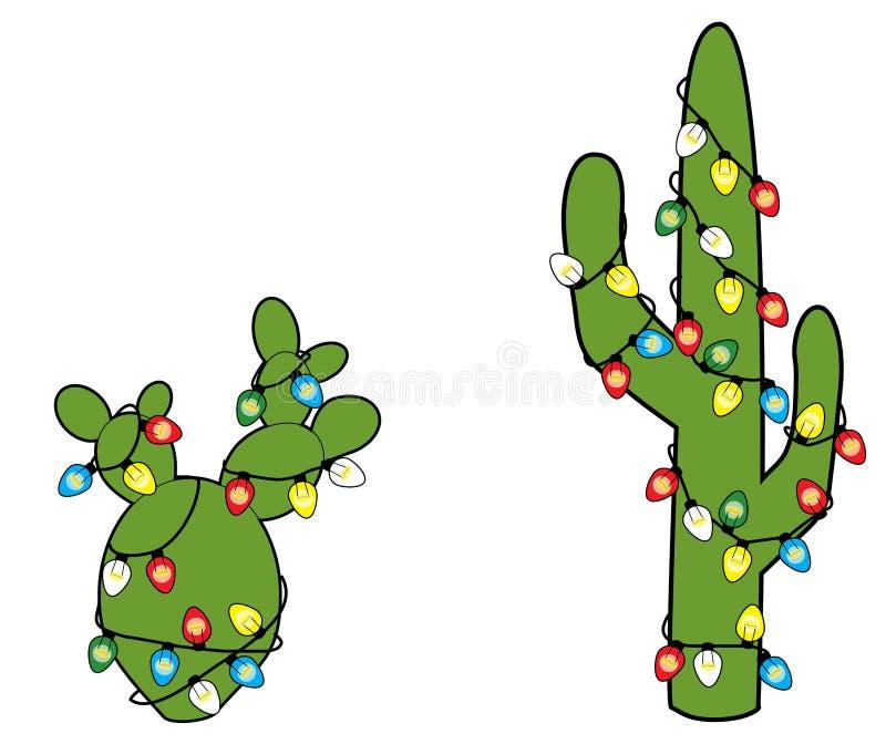 Cactos de Natal ilustração stock