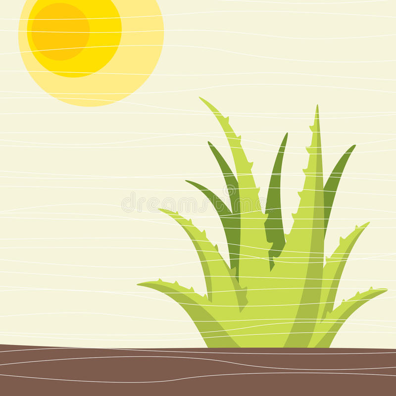 Download Cactus stock vector. Illustration of empty, mojave, climate - 10253827