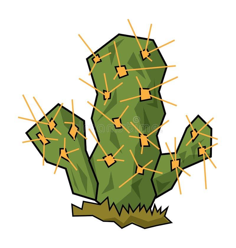 Cactus. Simple illustration for a green desert cactus vector illustration
