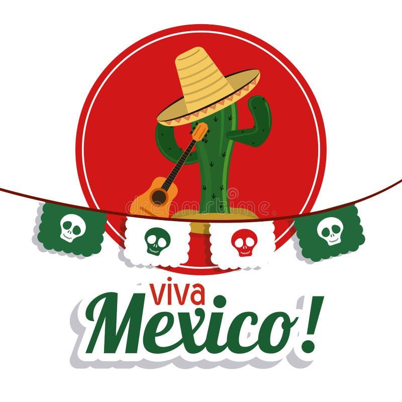 Cactus avec l 39 ic ne de chapeau culture du mexique dessin de vecteur photo stock image du - Dessin du mexique ...