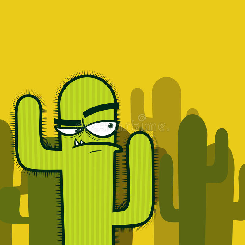Cactus character. vector illustration