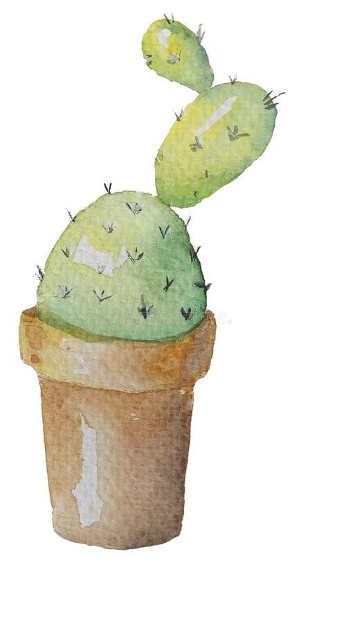 Cactus come gelato in un vaso illustrazione di stock