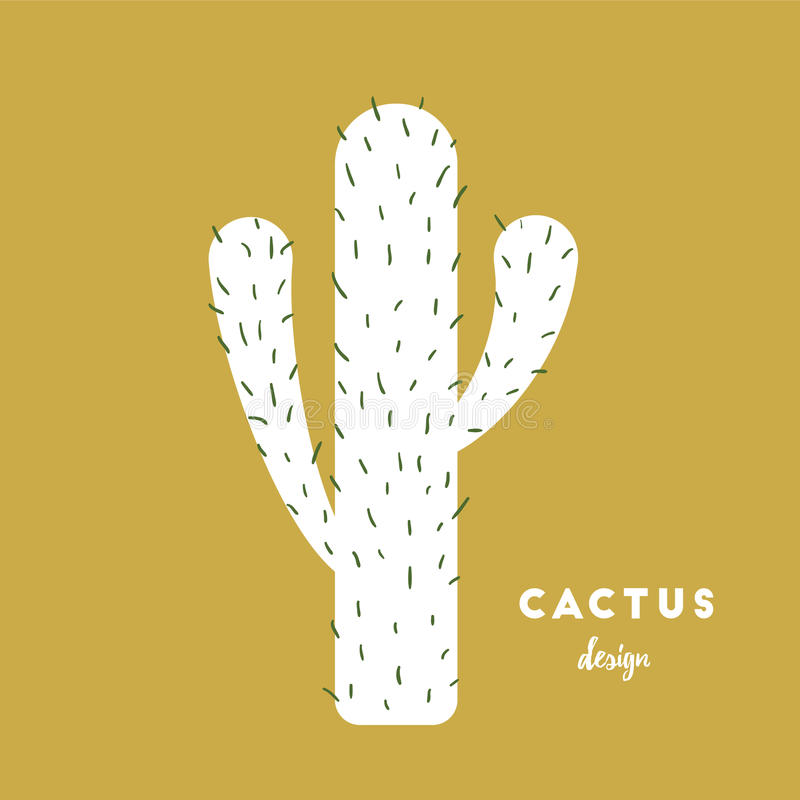 Cactus con las agujas ilustración del vector
