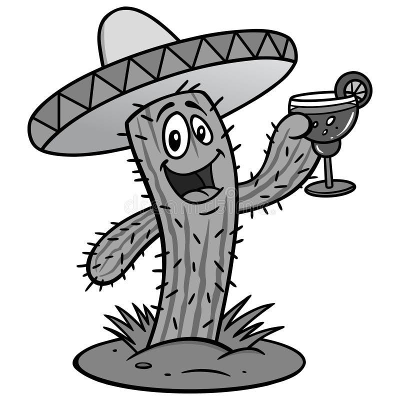 Cactus con Margarita Illustration libre illustration