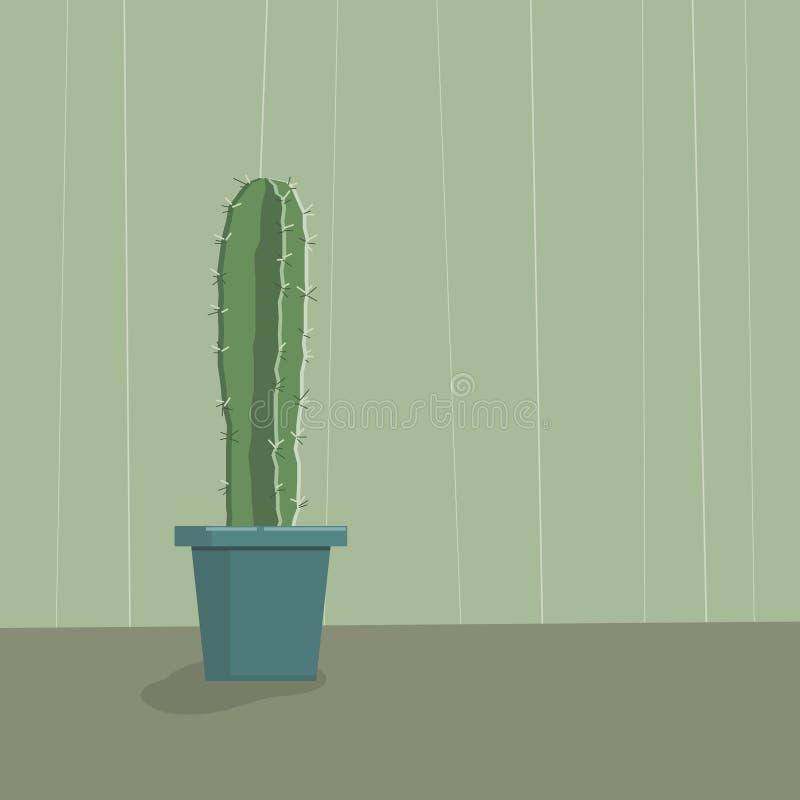 Cactus dans le bac illustration de vecteur