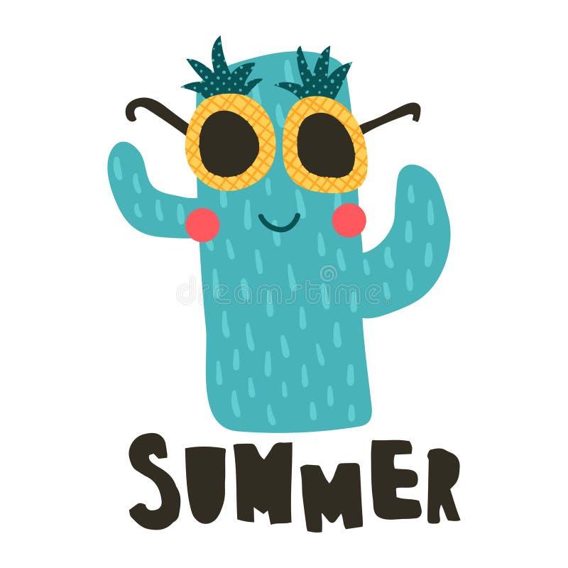 Cactus de la piña ilustración del vector
