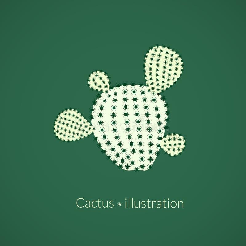 Cactus del higo chumbo de la planta verde, logotipo del vector libre illustration