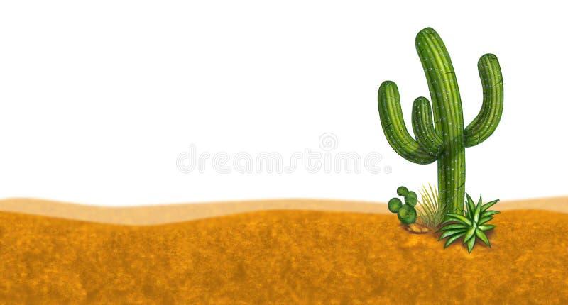 Cactus desert scene royalty free illustration
