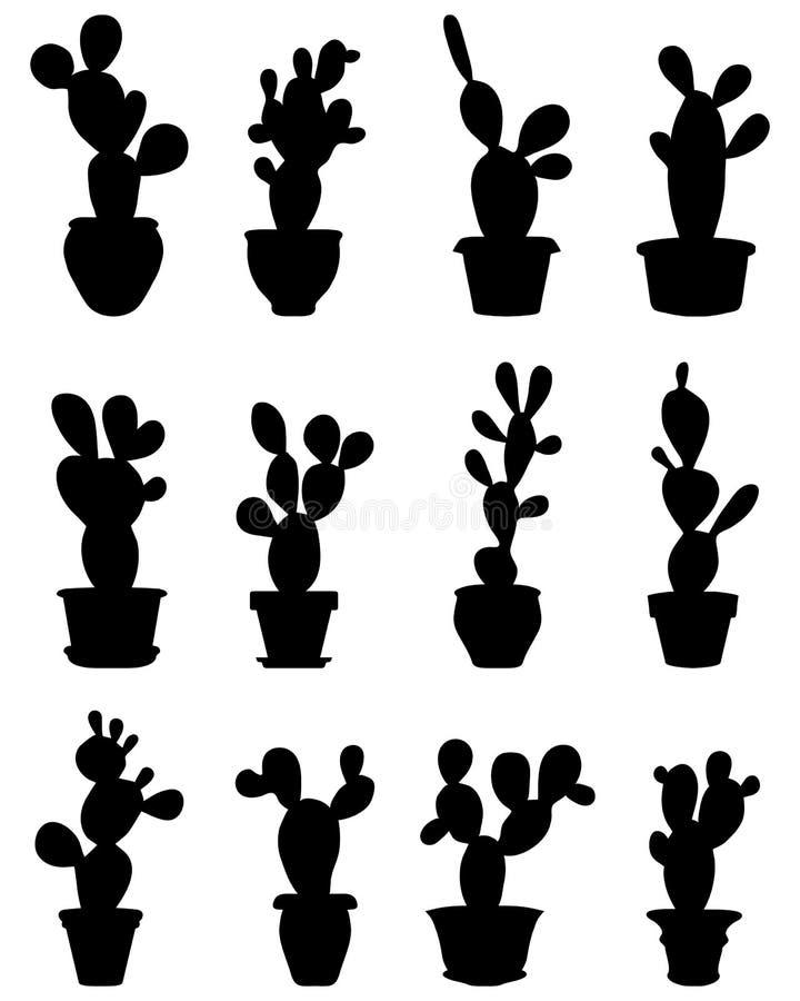 Cactus en conserva ilustración del vector
