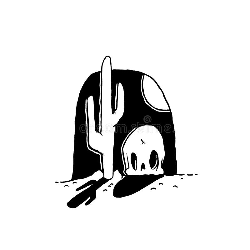 Cactus en el oeste salvaje imagenes de archivo