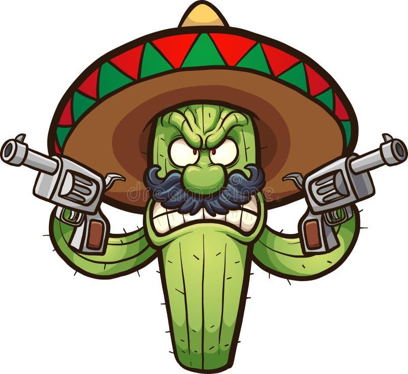 Cactus fâché illustration de vecteur