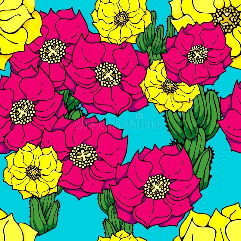 Download Cactus flower wallpaper stock vector. Illustration of background - 16476977
