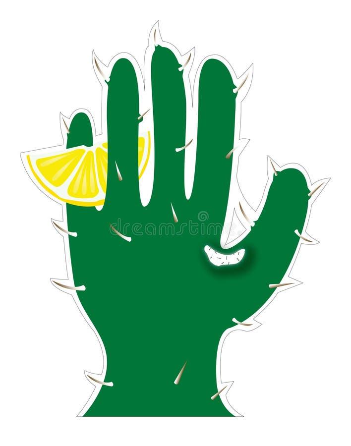Download Cactus in hand shape stock vector. Image of hand, salt - 19643162