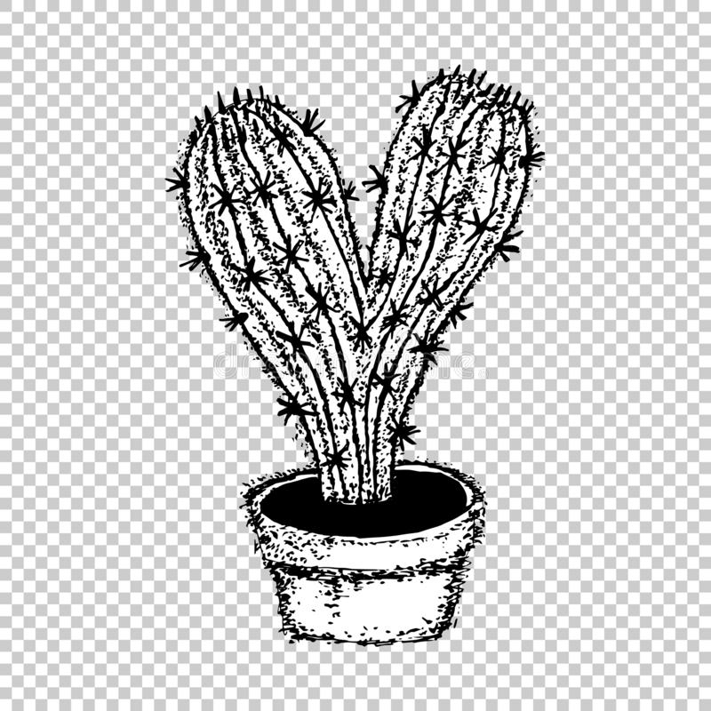 Cactus Heart, Free Hugs vector.  royalty free illustration