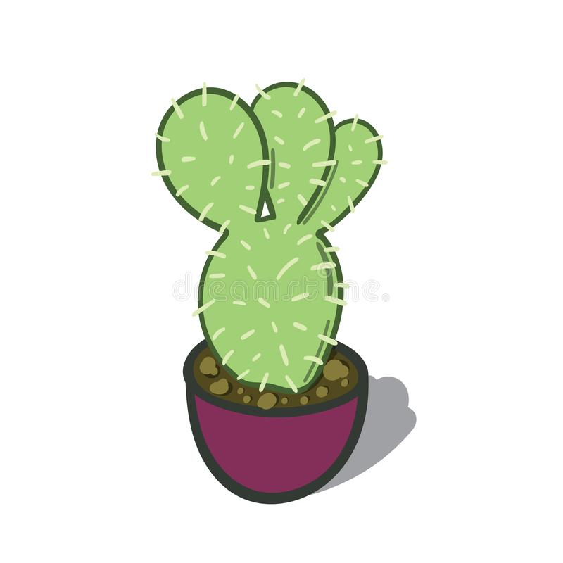 Cartoon illustration of a Cactus Tree stock images