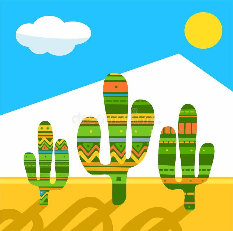 Cactus, immagine colorata, vettore illustrazione vettoriale