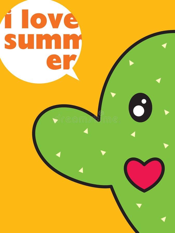 Download Cactus love stock vector. Illustration of desert, nature - 12260893