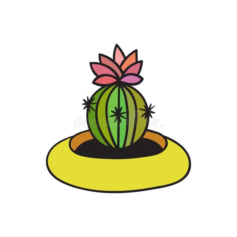 Cactus met zwarte contour Vector illustratie vector illustratie