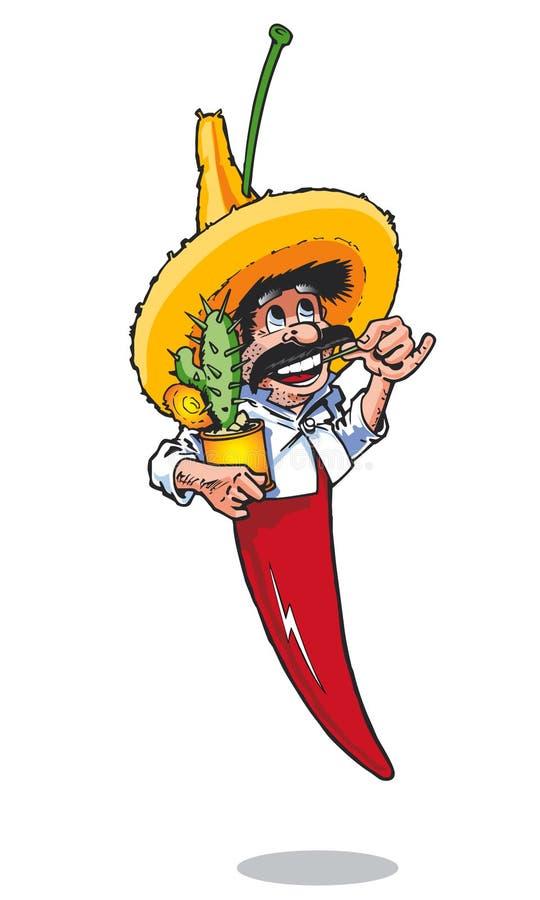 Cactus mexicain de poivre de s/poivron illustration de vecteur