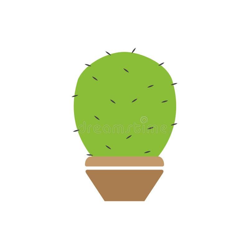 Cactus plant graphic design template vector isolated. Logo, icon, organic, food, grow, blossom, sun, alcohol, art, set, flower, print, summer, sharp, flora royalty free illustration