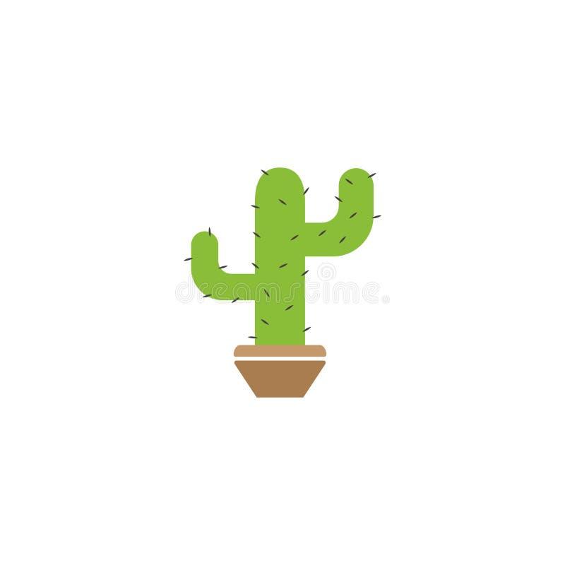 Cactus plant graphic design template vector isolated. Logo, icon, organic, food, grow, blossom, sun, alcohol, art, set, flower, print, summer, sharp, flora stock illustration