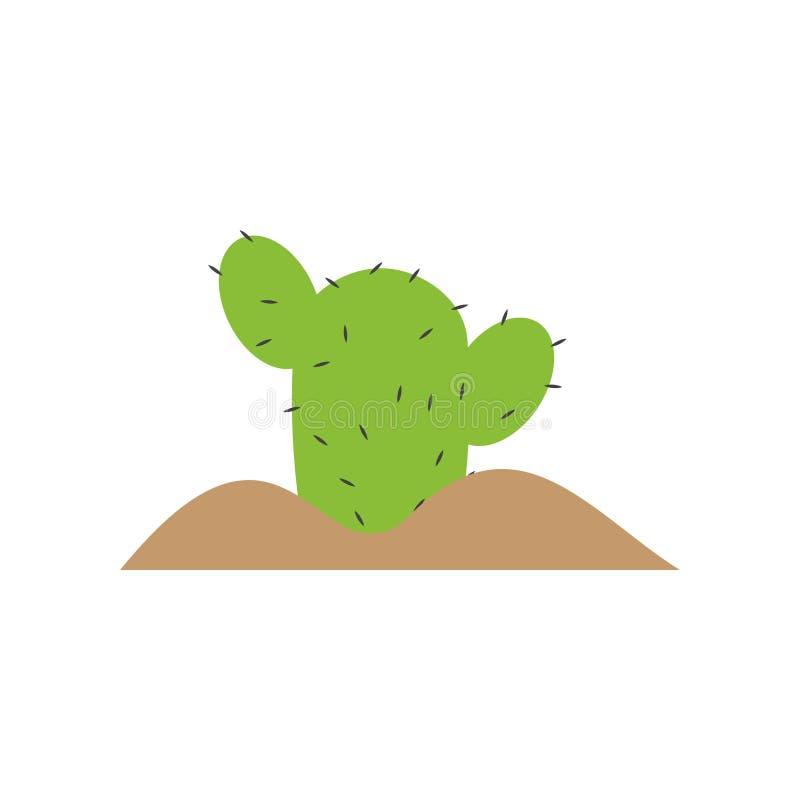 Cactus plant graphic design template vector isolated. Logo, icon, organic, food, grow, blossom, sun, alcohol, art, set, flower, print, summer, sharp, flora vector illustration