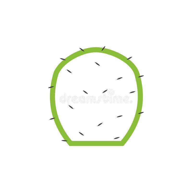 Cactus Plant Graphics Design Template Vektor isoliert stock abbildung