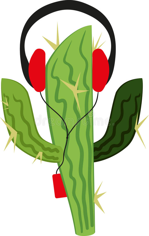 Cactus in the player vector illustration