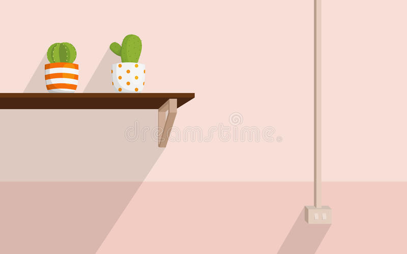 Cactus room royalty free stock images