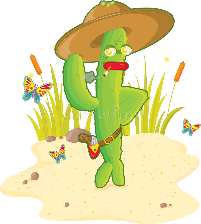 Cactus sherif royalty free illustration