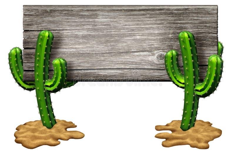 Cactus Sign vector illustration