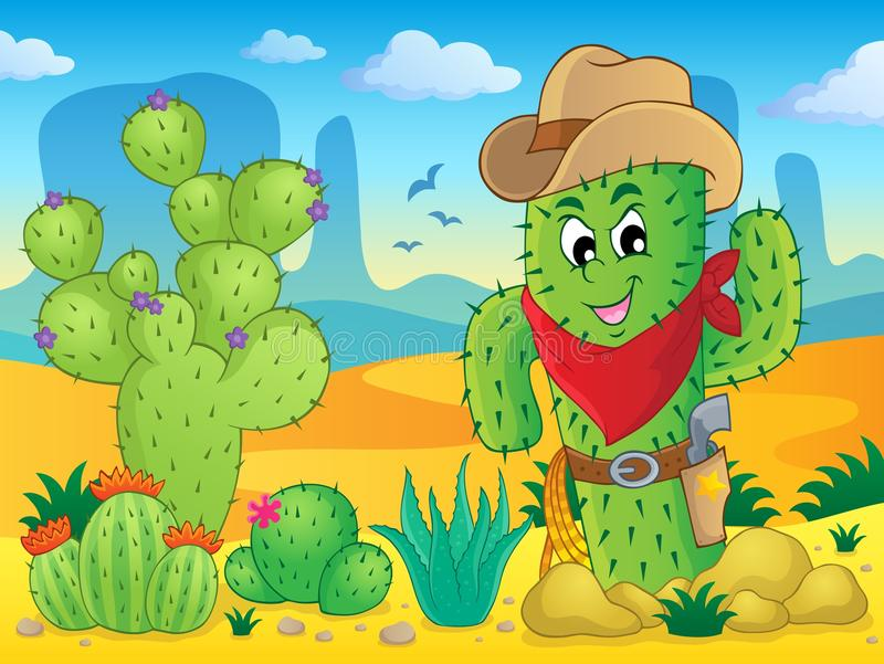 Cactus theme image 4 vector illustration